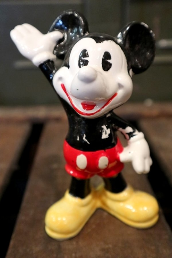 画像1: ct-150623-08 Mickey Mouse / 1970's-1980's Ceramic Figure