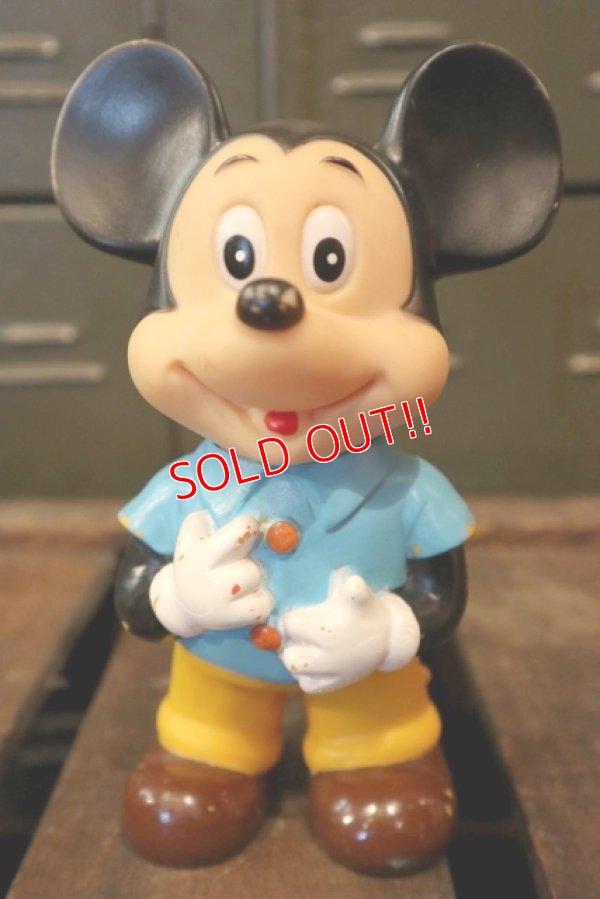 画像1: ct-180514-05 Mickey Mouse / 1980's Rubber Doll (JAPAN)