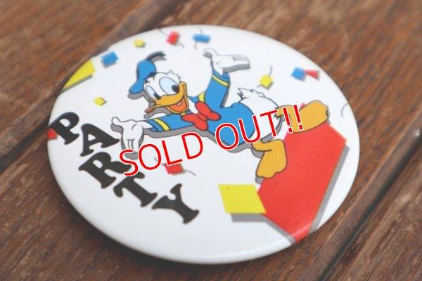 """画像2: ct-180514-10 Donald Duck / 1990's Pinback """"PARTY"""""""