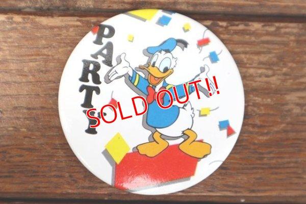 """画像1: ct-180514-10 Donald Duck / 1990's Pinback """"PARTY"""""""