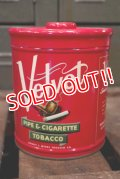 dp-180701-17 Velvet / 1950's Pipe & Cigarette Tobacco Can