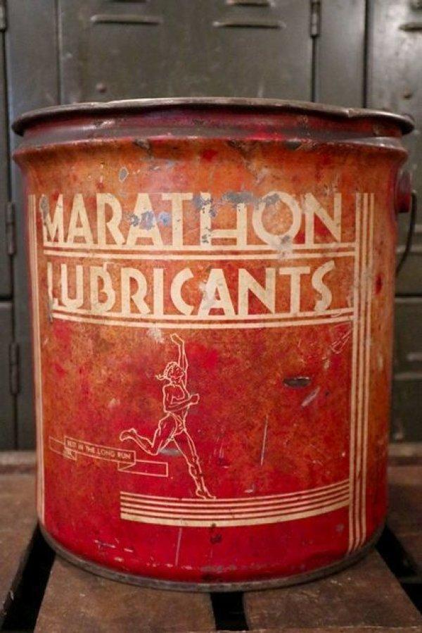 画像1: dp-180701-53 MARATHON LUBRICANTS / 1940's 25 Pounds Can