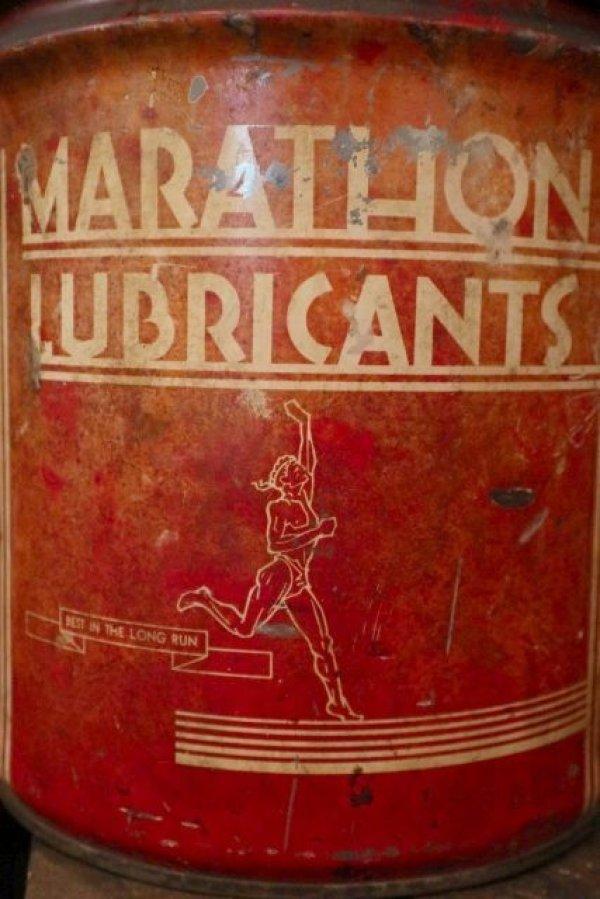 画像2: dp-180701-53 MARATHON LUBRICANTS / 1940's 25 Pounds Can
