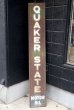 画像1: dp-180801-07 QUAKER STATE MOTOR OIL / 1940's Metal Sign (1)