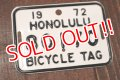 dp-150914-06 Hawaii Honolulu / 1972 Bicycle Tag