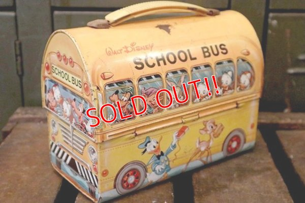 画像1: ct-180901-156 Walt Disney's / Aladdin 1960's School Bus Lunchbox