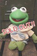 ct-180901-173 Baby Kermit / 1980's Rubber Head Plush Doll