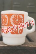 ct-180901-224 Fire-King / 1960's Stacking Mug Gerbera Orange