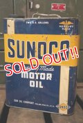 dp181001-03 SUNOCO / 1950's 2 Gallons Motor Oil Can