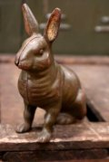 "dp-180901-20 late 1800's〜early 1900's Penny Bank ""Rabbit"""