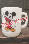 "kt-180701-07 Mickey Mouse / Anchor Hocking 1980's 9oz mug ""Mickey Mouse Today"""