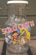 ct-181001-17 SESAME STREET / Anchor Hocking 1980's Glass Jug