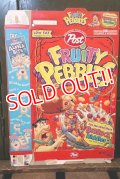 dp-181101-50 The Flintstones / Post 1995 Fruity Pebbles Cereal Box