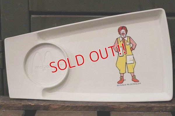 """画像1: ct-181101-38 McDonald's / Plastic Food Tray """"Ronald McDonald"""""""