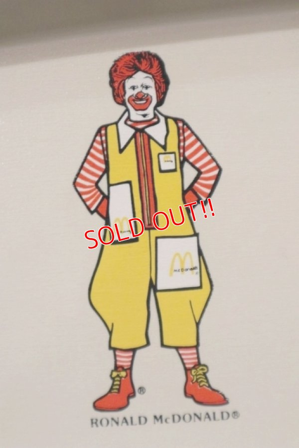 """画像2: ct-181101-38 McDonald's / Plastic Food Tray """"Ronald McDonald"""""""