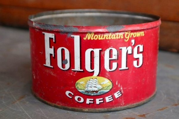 画像1: dp-181101-51 Folger's Coffee / Vintage Tin Can