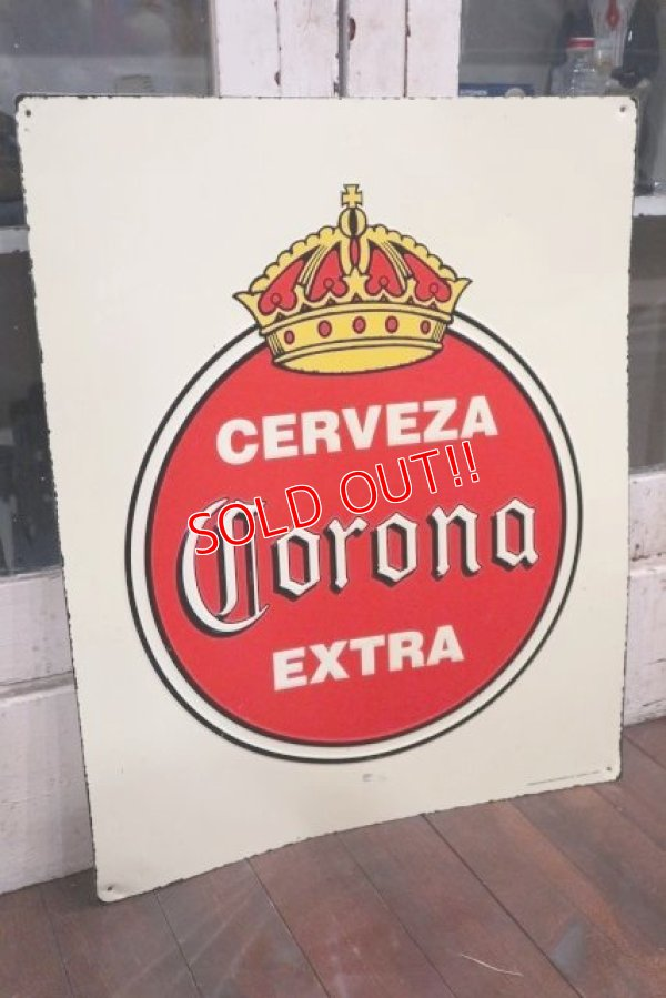 画像1: dp-181101-98 Corona / Vintage Metal Sign