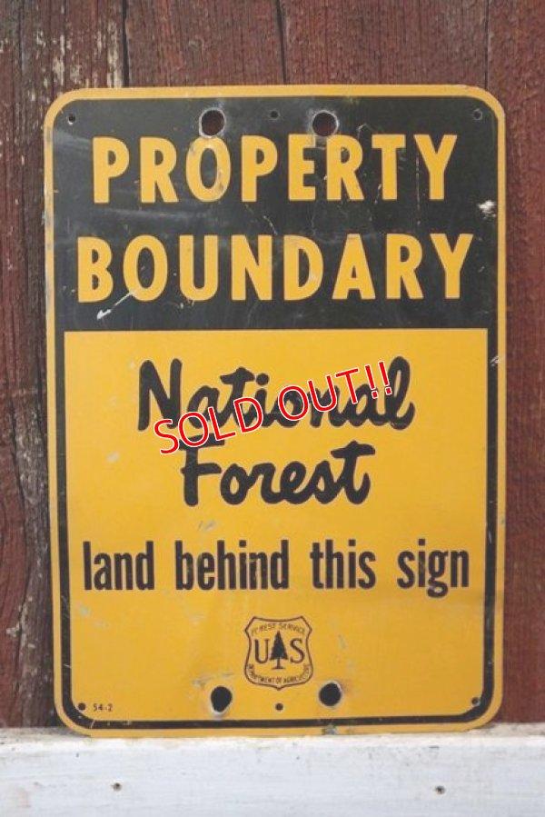 画像1: dp-181115-01 U.S.Forest Service / National Forest Property Boundary Sign