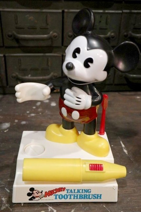 画像2: ct-181203-06 Mickey Mouse / Helm 1980's Talking Toothbrush