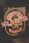 dp-181203-14 GRIZZLY BEER / 1970's Pub Mirror & Lighted Sign