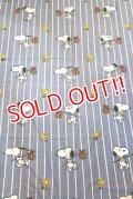 ct-181203-66 PEANUTS Snoopy / 1970's Flat Sheet (Twin size)