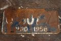 dp-181201-25 License Plate 1958 OHIO