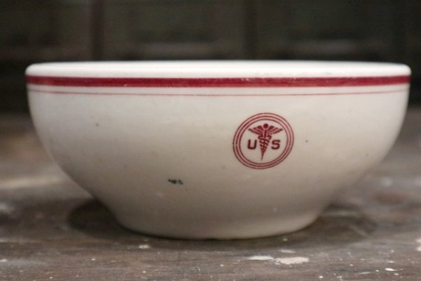画像1: dp-181101-15 U.S.ARMY Medical Department / Vintage China Bowl (C)