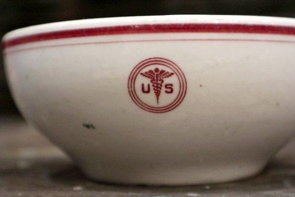 画像2: dp-181101-15 U.S.ARMY Medical Department / Vintage China Bowl (C)