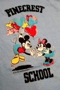ct-190101-15 Mickey Mouse & Minnie Mouse / PINECREST SCHOOL 1980's Kid's T-Shrit