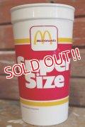 dp-190101-22 McDonald's / 1988 Super Size Plastic Cup