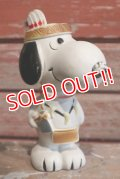 "ct-1902021-06 Snoopy / 1980's Vinyl Squeak Toy ""Indian"""