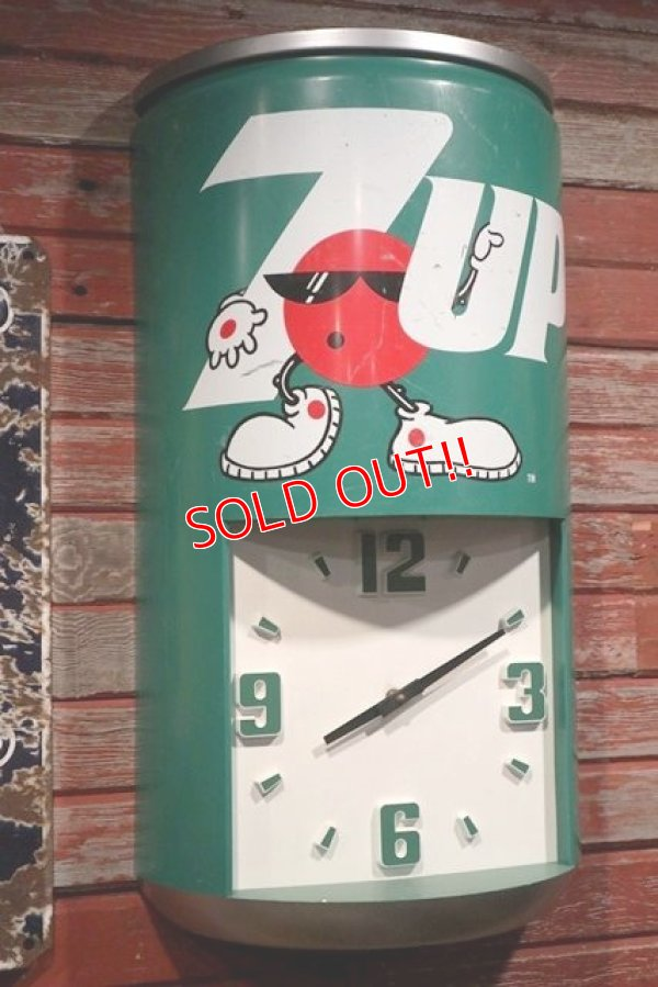 画像1: dp-190201-48 7up / 1980's Spot Wall Clock