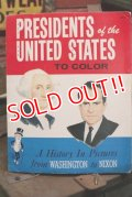 ct-151001-31 Planters / Mr.Peanut 1970's Presidents of the United State To Color Book