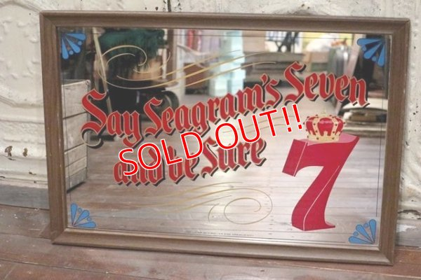 画像1: dp-190301-28 Seagram's Seven Crown / 1970's Pub Mirror