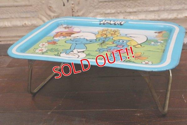 画像2: ct-190301-35 Smurf / 1980's Kid's Tin Table