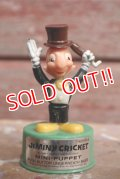 ct-160901-151 Jiminy Cricket / Kohner Bros 1970's Mini Push Puppet