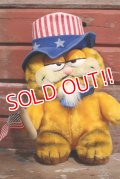 "ct-190301-14 Garfield / DAKIN 1980' Plush Doll ""Uncle Sam"""