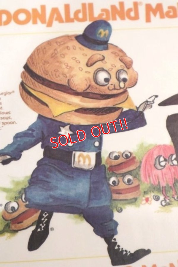 "画像2: ct-190301-45 McDonald's / 1970's Place Mat ""Big Mac Police & Hamburglar"""