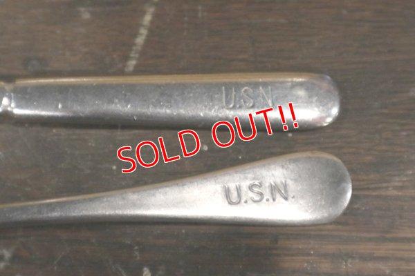 画像3: dp-190301-47 U.S.NAVY / Vintage Fork & Knife Set