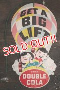 dp-190301-36 DOUBLE COLA / 1960's GET A BIG LIFT Card Sign