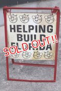 "ct-190401-05 Reddy Kilowatt / 1950's-1960's Stand Sign ""Helping Build Florida"""