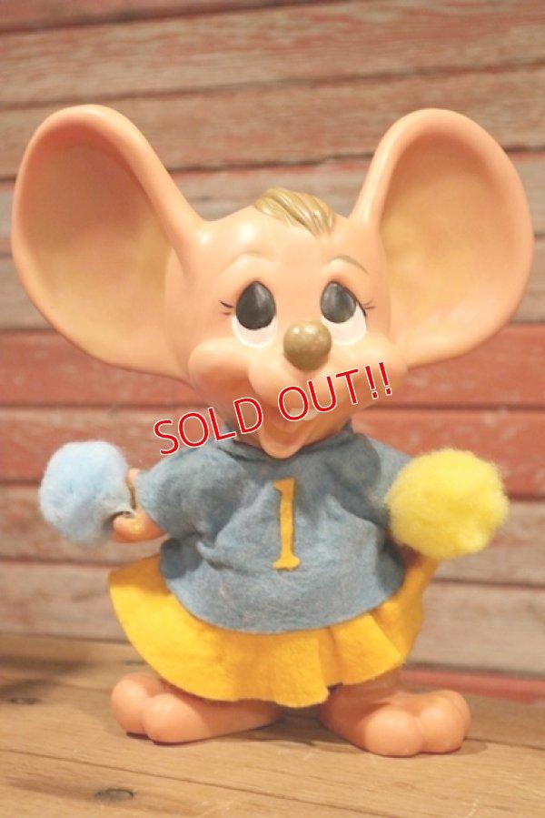 """画像1: ct-190402-12 ROYALTY Industries / 1970's Roy Des of Fla Mouse Coin Bank """"Cheerleader"""""""