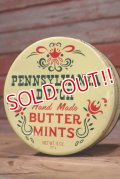 dp-190402-18 Pennsylvania Dutch / Hand Made Butter Mint Vintage Tin Can