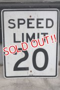 "dp-190402-31 Road Sign ""SPEED LIMIT 20"""