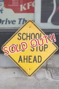 "dp-190402-33 Road Sign ""SCHOOL BUS STOP AHEAD"""