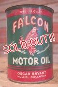 dp-190401-09 FALCON MOTOR OIL / 1940's-1950's 1QT Oil Can