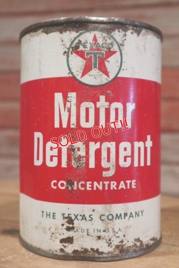 画像1: dp-190401-09 TEXACO / 1940's-1950's Motor Detergent Can