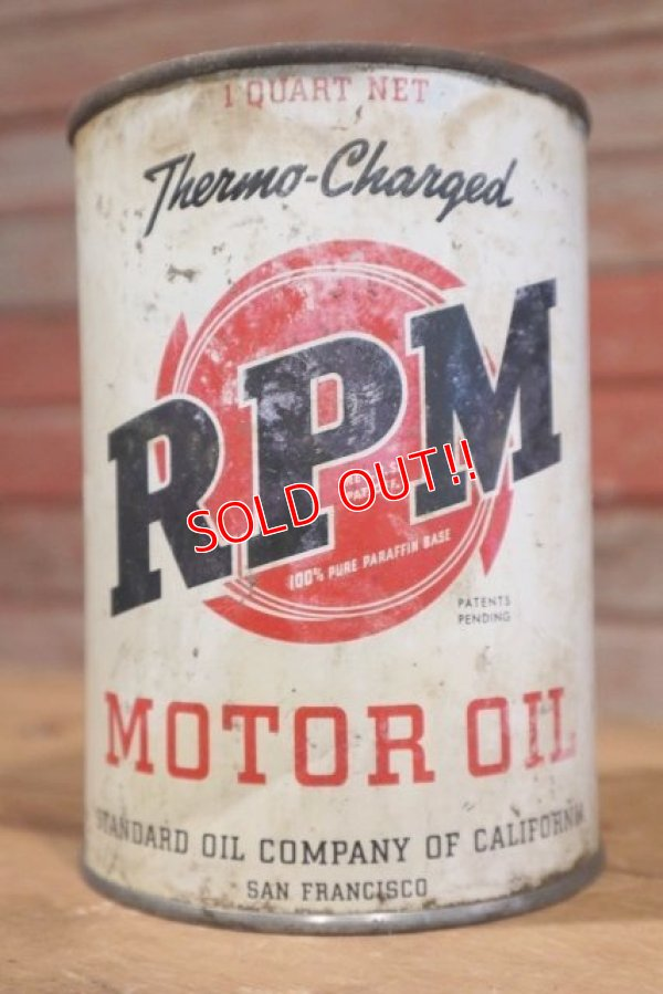 画像1: dp-190401-09 RPM / 1940's Motor Oil can