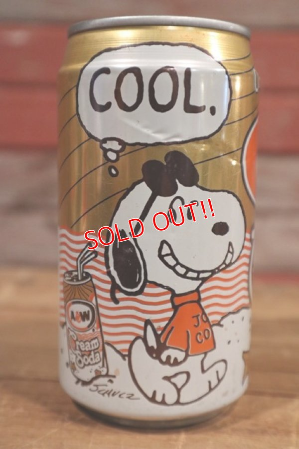 画像1: ct-190501-52 Snoopy / A&W 1990's Cream Soda Can