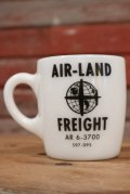 dp-190401-44 Unknown / Vintage AIR-LAND FREIGHT Milk Glass Mug
